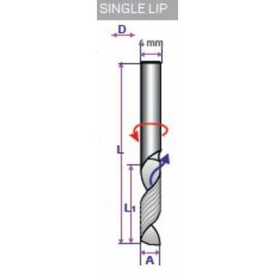PERCUT, 4 mm-es 1 lapú, 3 mm széles, műanyaghoz