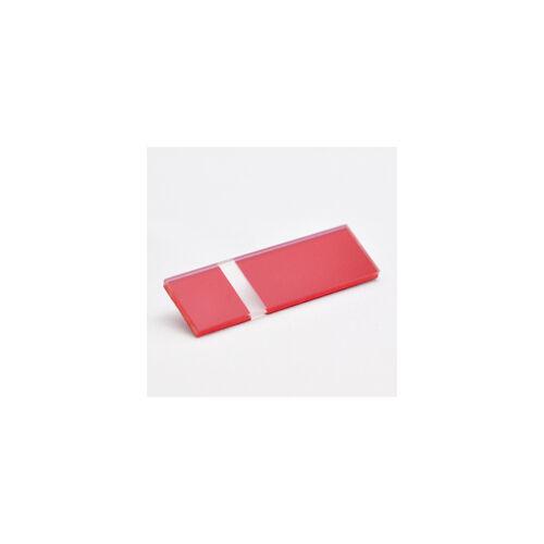 2-plex 1,6  Matt átlátszó / piros