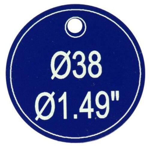 Ipari biléta - kék kör 38 mm