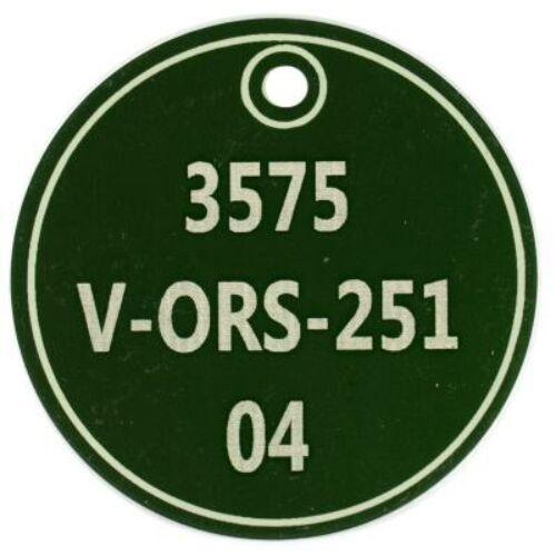 Ipari biléta - zöld kör 50 mm