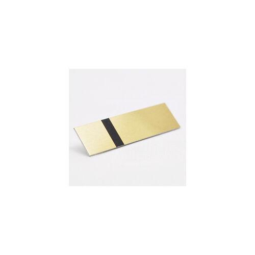 Alumamark (Alumilaz) 0,5 mm szatinált arany / fekete ragasztóval