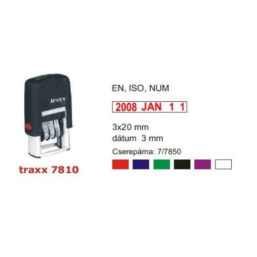 TRAXX 7810NUM piros dátumbélyegző 5x25mm