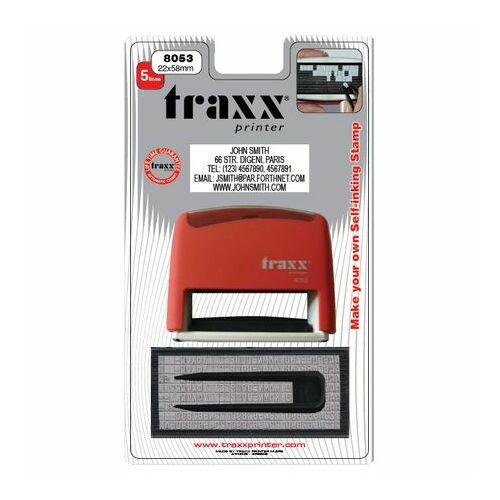 TRAXX 8053HU piros kirakós bélyegzőkészlet 22x58mm