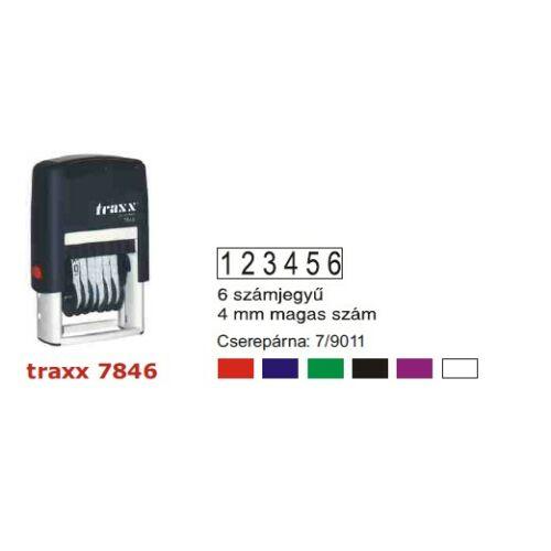 TRAXX 7846 fekete számbélyegző
