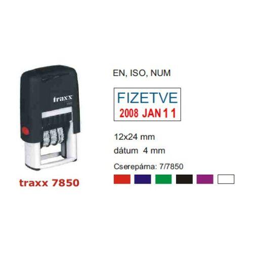 TRAXX 7850ISO fekete dátumbélyegző  14x28mm