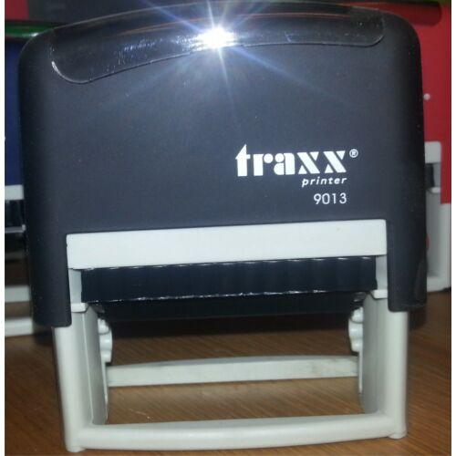 TRAXX 9013 fekete szövegbélyegző 22x58mm