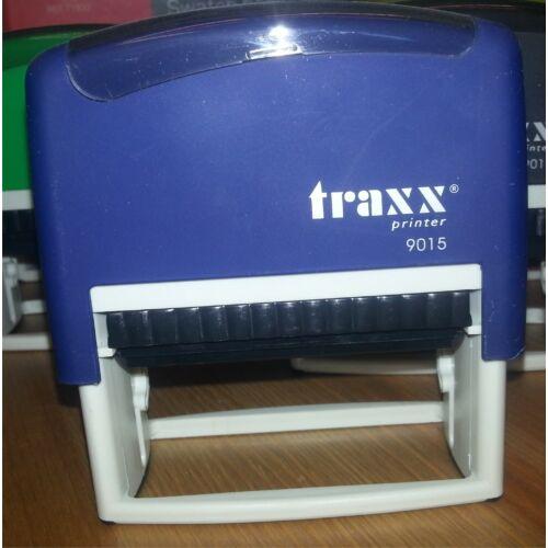 TRAXX 9015 kék szövegbélyegző 30x70mm