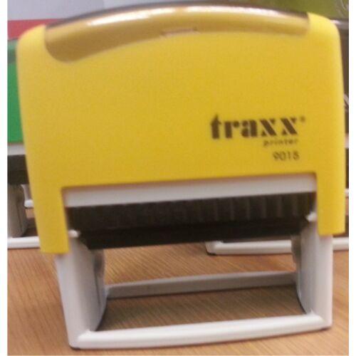 TRAXX 9015 sárga szövegbélyegző 30x70mm