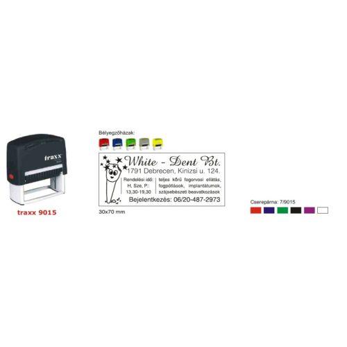 TRAXX 9015 piros szövegbélyegző 30x70mm