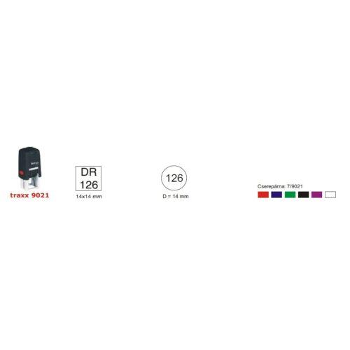 TRAXX 9021 fekete szövegbélyegző 21x21mm