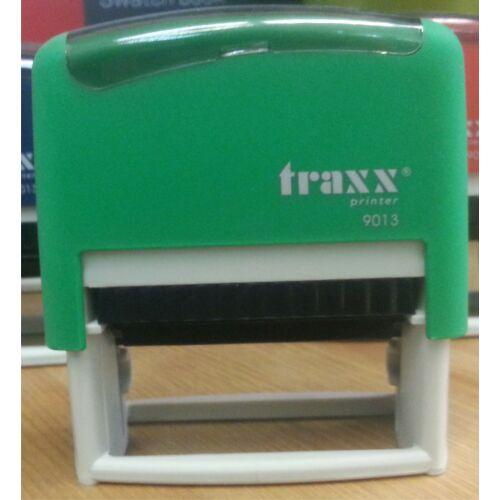 TRAXX 9013 zöld szövegbélyegző 22x58mm