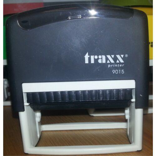 TRAXX 9015 fekete szövegbélyegző 30x70mm