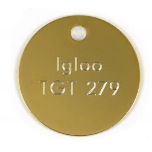 Kulcs biléta - arany kör 30 mm