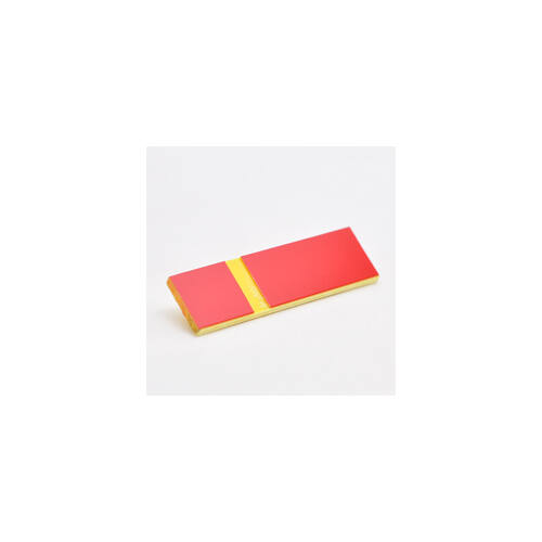 Gravoply Laser 0,8 mm piros / sárga  (363)