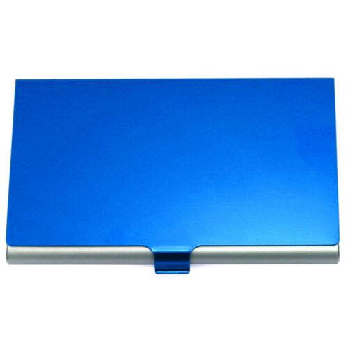 Eloxált alumínium névjegytartó kék