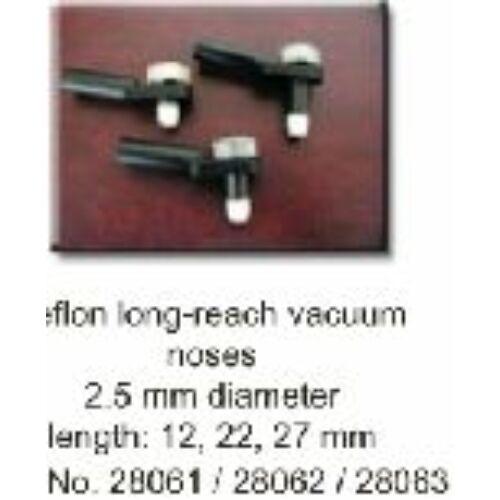 Teflon. hosszú, 27 mm, elszívós felületkövető, elszívó pipával