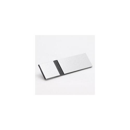 Metallex 0,8 mm  matt ezüst/ fekete  (336) 610x610mm