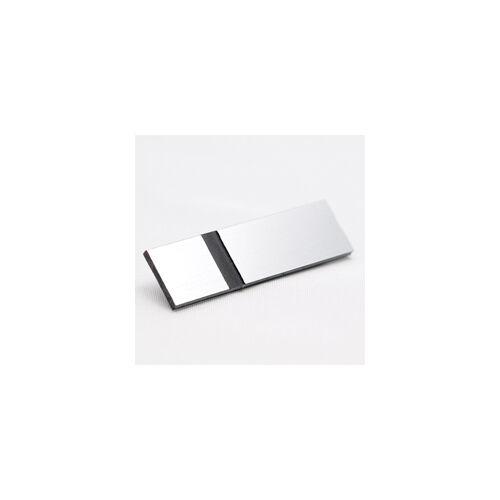 Metallex 0,8 mm  szállrahúzott ezüst(alu) / fekete  (350) 610x610mm