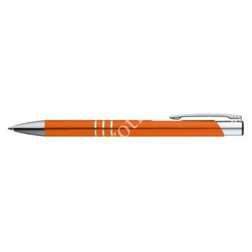 3 díszítő gyűrűs fém toll - narancs