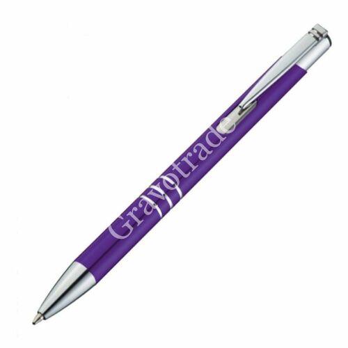 3 díszítő gyűrűs fém toll - lila
