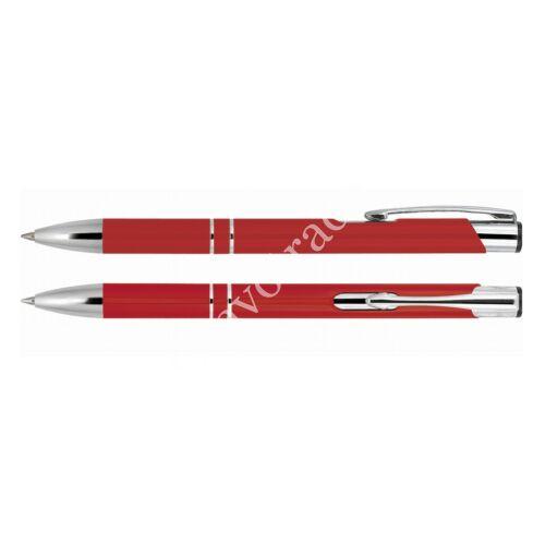 2 díszítőgyűrűs alumínium toll - piros