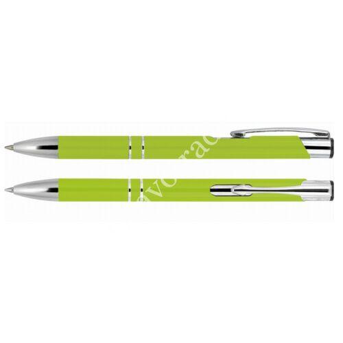 2 díszítőgyűrűs alumínium toll - világos zöld