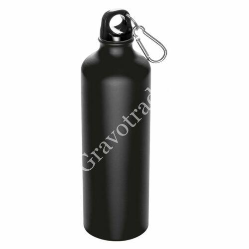 800 ml-es palack karabinerrel, fekete