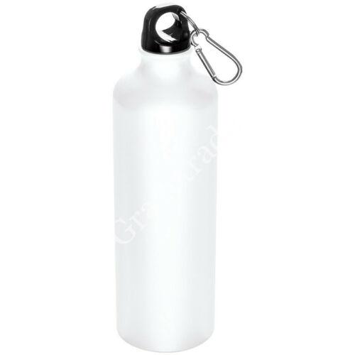 800 ml-es palack karabinerrel, fehér