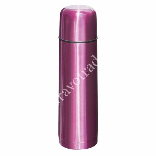 500 ml-es termosz, fém bögrével, rózsaszín