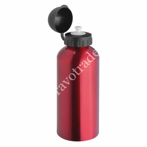 Acél ivópalack, piros 0,6 L