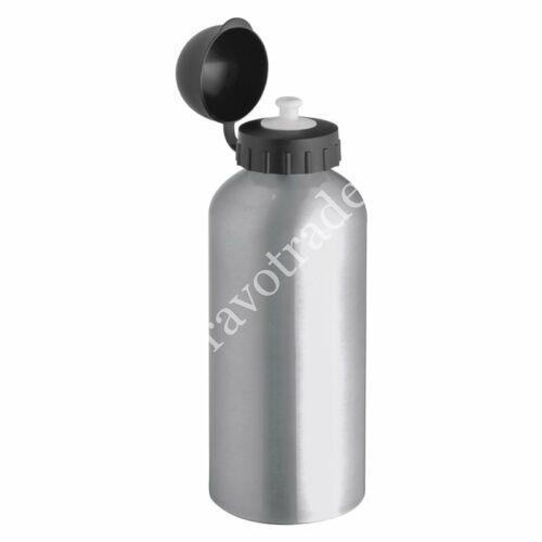 Acél ivópalack, ezüst 0,6 L