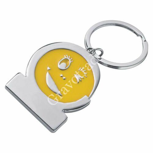Smile kulcstartó sárga