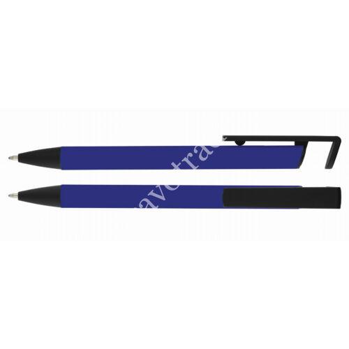 Alumínium golyóstoll mobiltartóval - Sötét kék