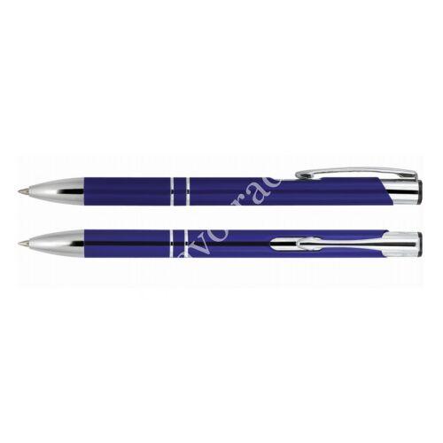 2 díszítőgyűrűs alumínium toll - kék