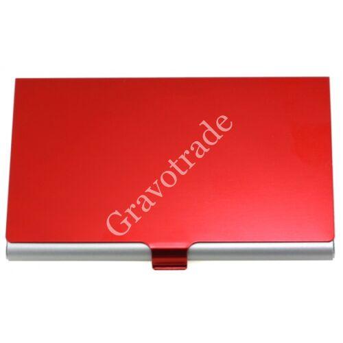 Eloxált alumínium névjegytartó piros